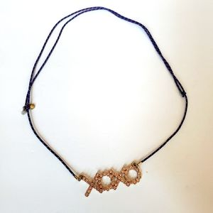 CREWCUTS girls XOXO blingy jeweled cord necklace